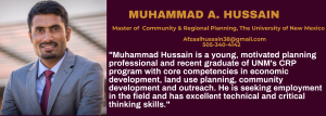 Job Candidate – Muhammad A. Hussain